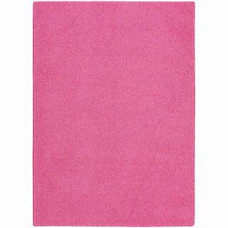 Somette Sloane Pink Diamond Area Rug (5' x 8')