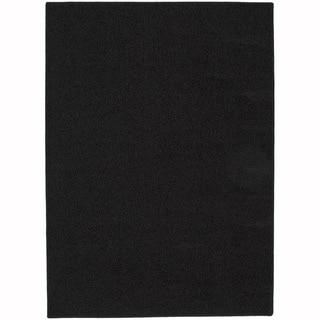 Somette Sloane Blackest Black Area Rug (4' x 6')