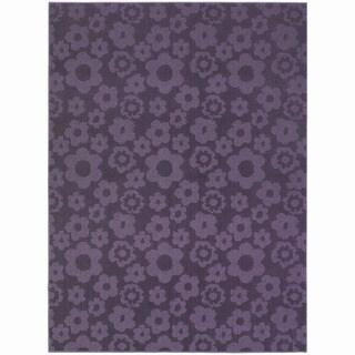 Somette Petal Purple Area Rug (7'6 x 9'6)