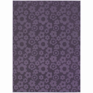 Somette Petal Purple Area Rug (5' x 7')