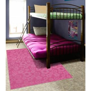 Somette Petal Pink Area Rug (5' x 7')