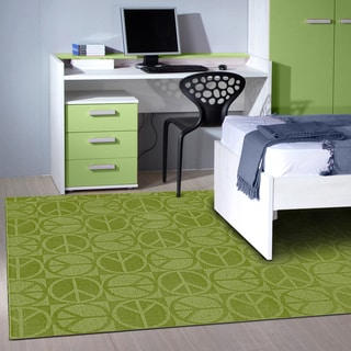 Somette Peace, Love & Lime Area Rug (5' x 7')