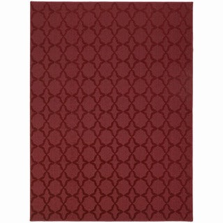 Somette Naples Chili Red Area Rug (5' x 7')