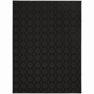 Somette Naples Black Area Rug (7'6 x 9'6)