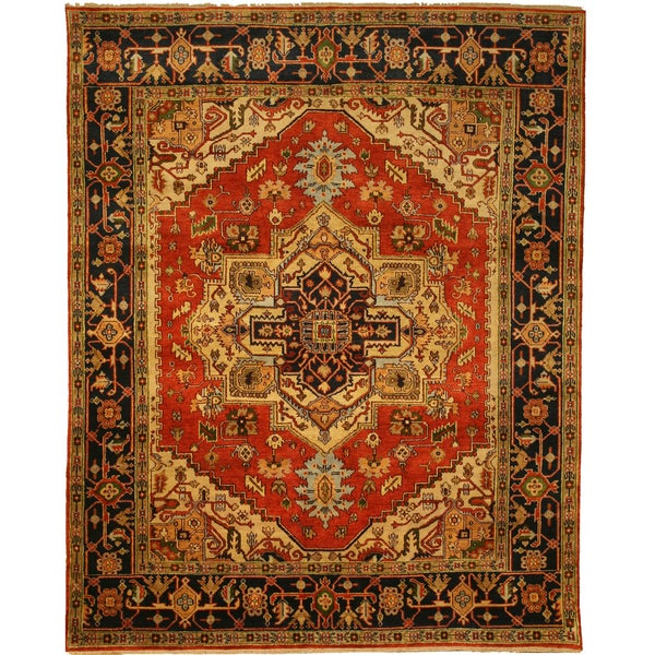Shop Hand-knotted Wool Rust Traditional Oriental Serapi