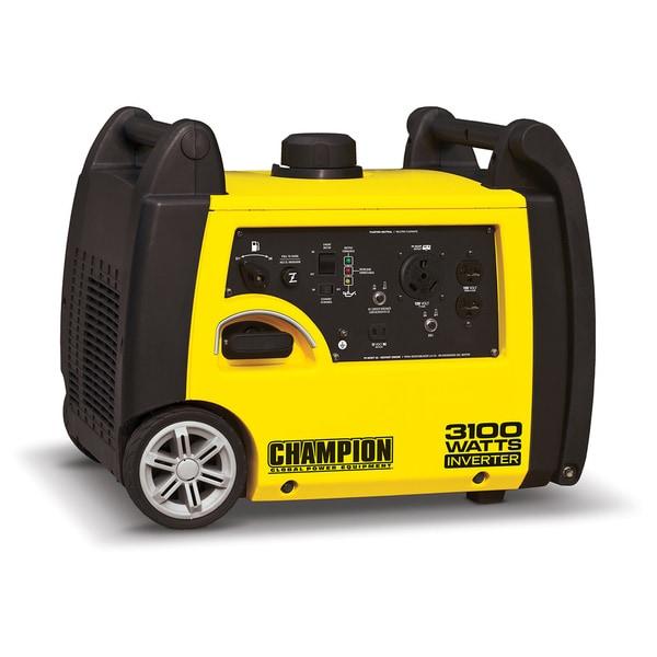 Shop Champion 3100-Watt RV Ready Portable Inverter Generator - Free ...