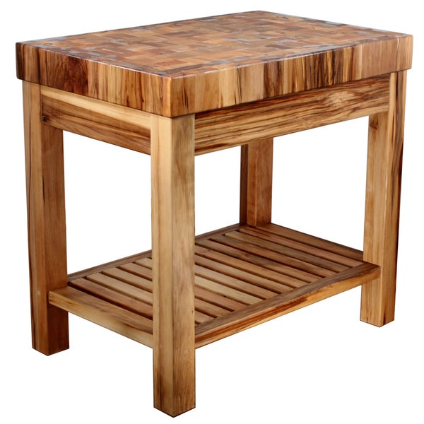 Boulder creek natural butcher block island free shipping - Small butcher block island ...