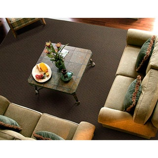 Somette Ashton Chocolate Area Rug (7'6 x 9'6)