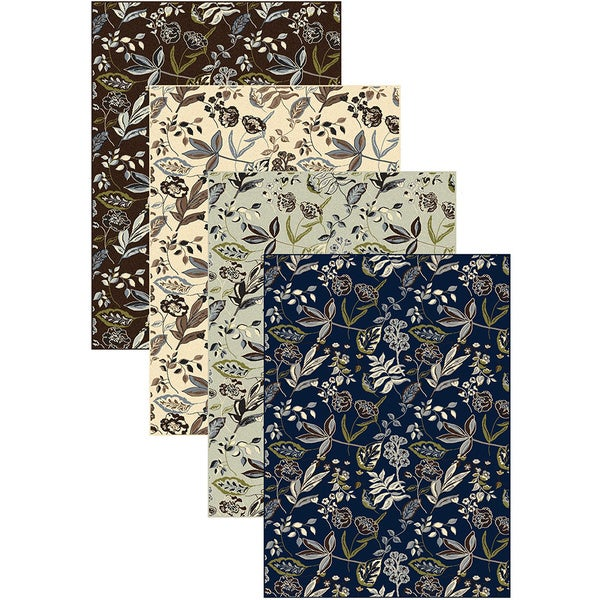 Admire Home Living Artisan Floral Area Rug (5'5 x 7'7)