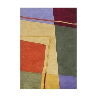 Alliyah Handmade Multi-Colored New Zealand Blend Wool Rug