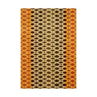 Alliyah Hand Made Carrot New Zeeland Blend Wool Rug - 8' x 10'