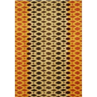 Alliyah Hand Made Carrot New Zeeland Blend Wool Rug (5' x 8')