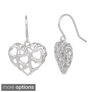 Gioelli Sterling Silver Heart Earrings