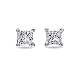 Montebello 14k White Gold 1/4ct TDW Diamond Solitaire Stud Earrings (G-H, SI1-SI2)
