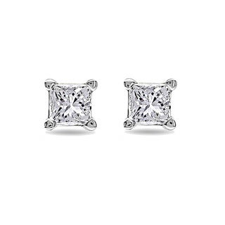 Montebello 14k White Gold 1/4ct TDW Diamond Solitaire Stud Earrings