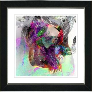Studio Works Modern 'Water Dance - Red' Framed Print