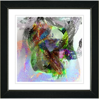 Studio Works Modern 'Water Dance - Green' Framed Print