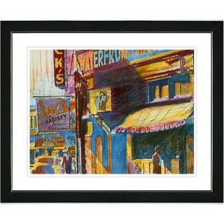 Studio Works Modern 'Jazz Waterfront' Framed Print