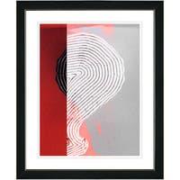 Studio Works Modern 'Signature - Red' Framed Print