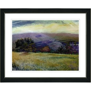 Studio Works Modern 'Meadow After the Rain' Framed Print