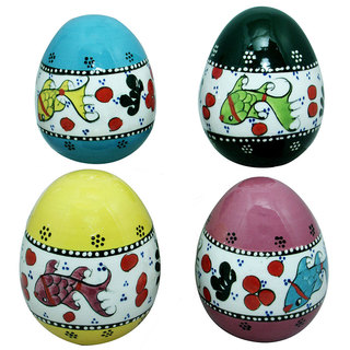 Handmade Set of Four Ceramic Decorative Eggs (Turkey)