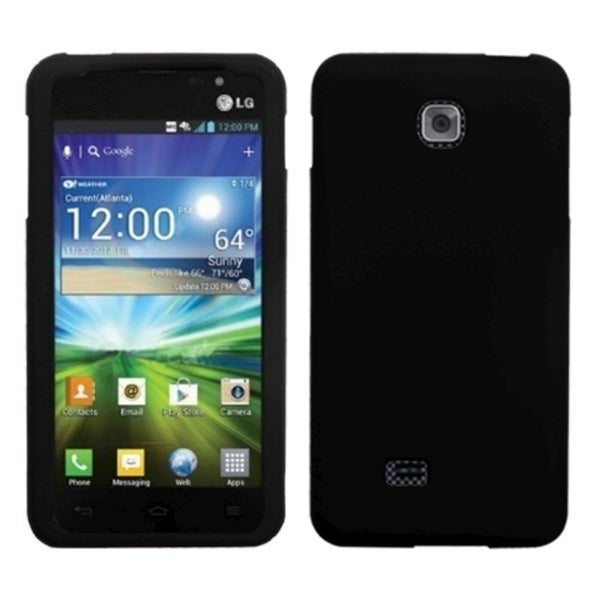 BasAcc Solid Skin Cover Black for LG P870 Escape