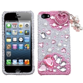INSTEN Pink Romance Phone Case Cover for iPhone 5