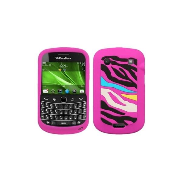 INSTEN Rainbow Zebra/ Hot Pink Phone Case Cover for Blackberry Bold 9930/ 9900