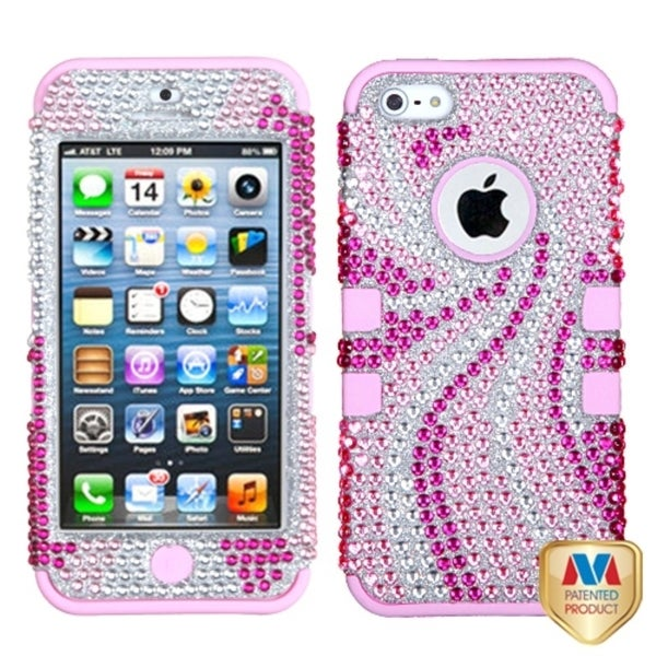 BasAcc Pink Phoenix Tail Diamante TUFF Hybrid Case for Apple iPhone 5