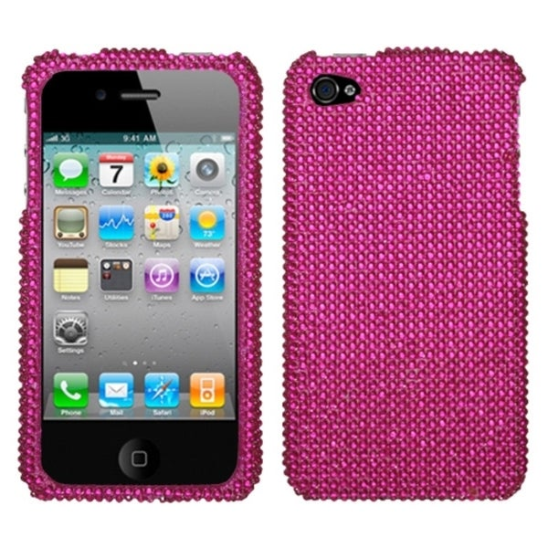 BasAcc Hot Pink Diamante Protector Case for Apple® iPhone 4/ 4S