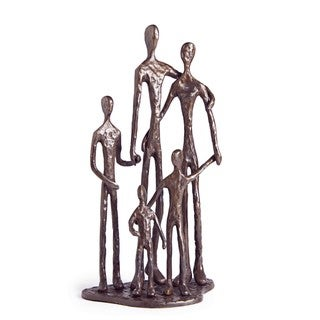 Family of Five Bronze Sculpture