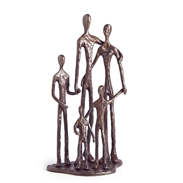 Family Of Five Bronze Sculpture Free Shipping Today