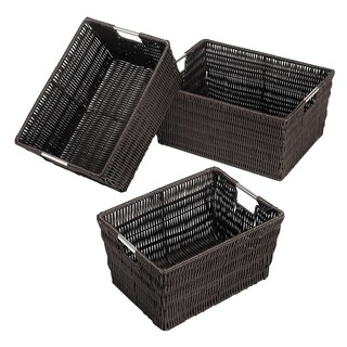 Whitmor Rattique Storage Baskets (Set of 3)
