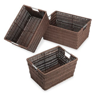 Whitmor Java Rattique Storage Baskets (Set of 3)