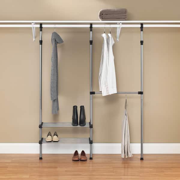 Shop Whitmor Closet Rod System Storage Rack Overstock 7999659