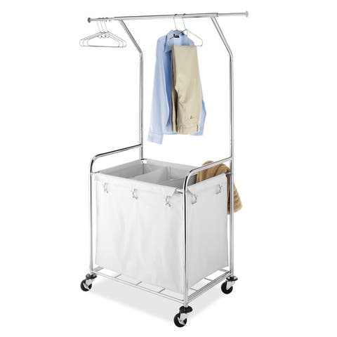 Whitmor 6894-3910-BB Chrome Commercial Laundry Center