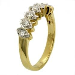 Beverly Hills Charm  14k Yellow Gold 1/4 ct. TDW Marquise Shape Diamond Ring