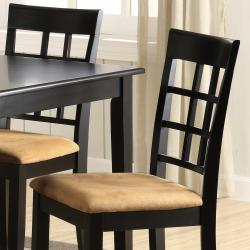 Wilmington Black Window Back 5-piece Dining Set - Thumbnail 1