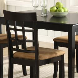Wilmington Black Window Back 5-piece Dining Set