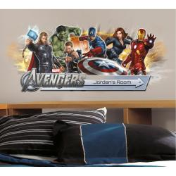 RoomMates Avengers Peel and Stick Giant Headboard with Personalization - Thumbnail 2