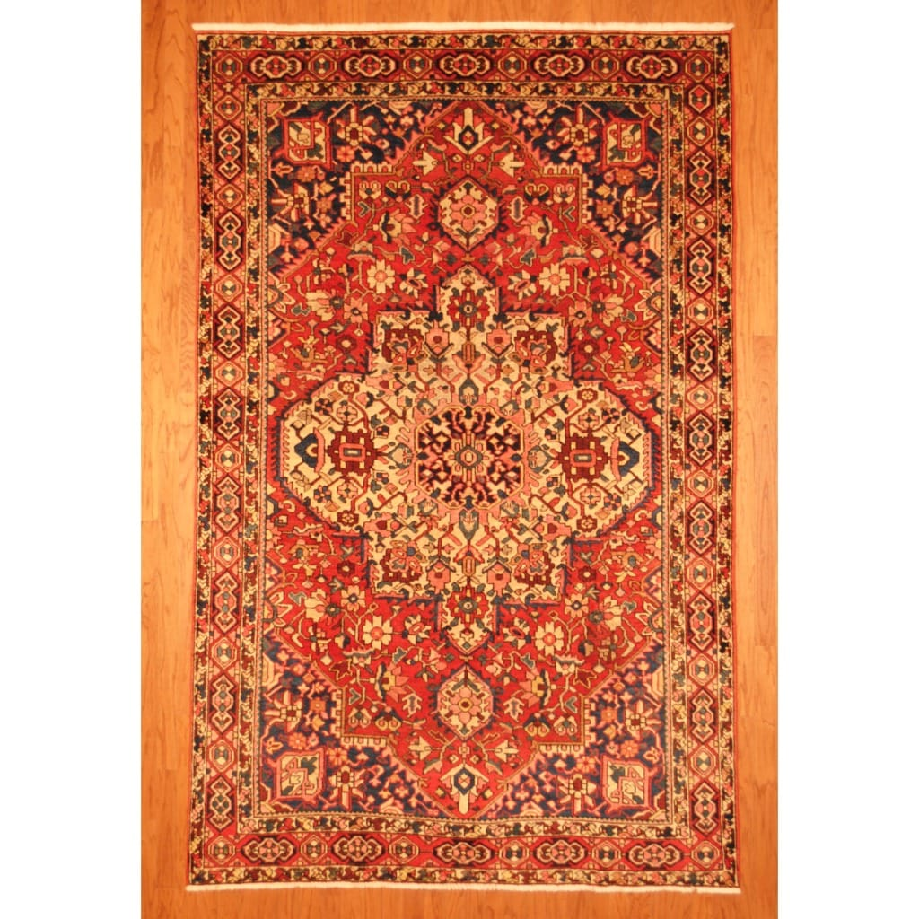 Shop Antique 1940s Persian Hand Knotted Bakhtiari Red