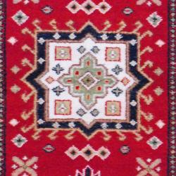 Indo Hand-knotted Kazak Red/ Ivory Wool Rug (3' x 5') - Thumbnail 1