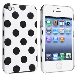 Polka Dot Case/ Charger/ Mounted Phone Holder for Apple iPhone 4/ 4S - Thumbnail 2