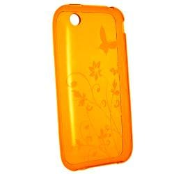 Clear White Flower TPU Case/ Screen Protector for Apple iPhone 3G/ 3GS - Thumbnail 1
