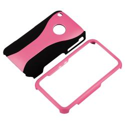Pink/ Black Cup Shape Case/ Screen Protector for Apple iPhone 3G/ 3GS - Thumbnail 1
