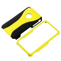 Yellow/ Black Cup Shape Case/ LCD Protector for Apple iPhone 3G/ 3GS - Thumbnail 1