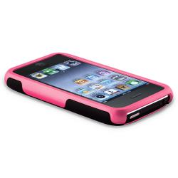 Pink/ Black Cup Shape Case/ Screen Protector for Apple iPhone 3G/ 3GS - Thumbnail 2