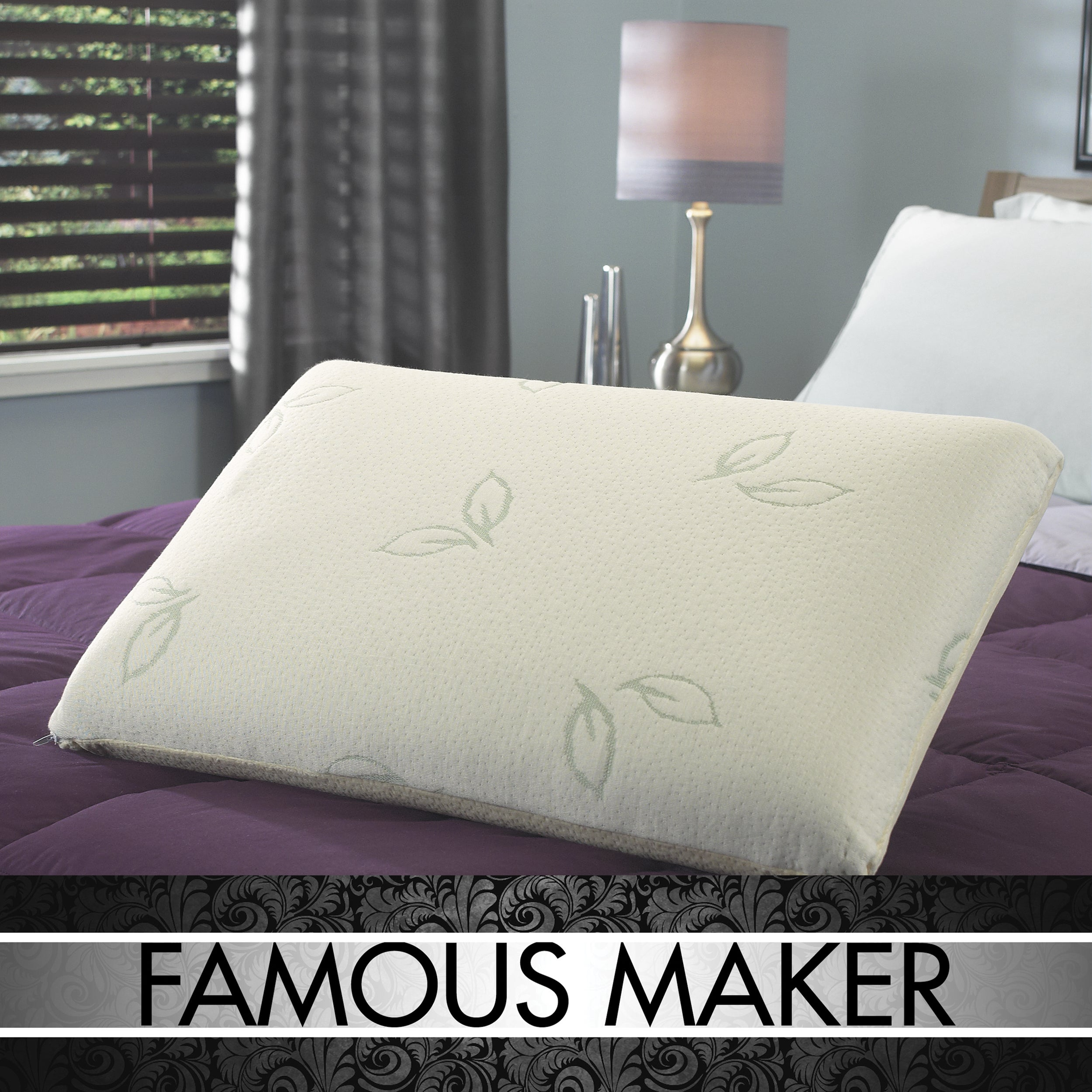 Famous Maker Dual Support Reversible Memory Foam/ Latex Foam Pillow - Thumbnail 0