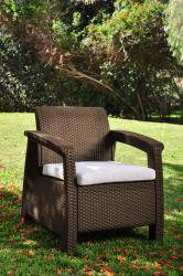 Atlantic 'Mykonos' 3-piece Brown Wicker Balcony Set - Thumbnail 1