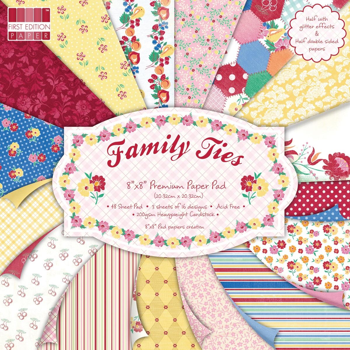 "Premium Paper Pad 8""X8in 48/Sheets-Family Ties"